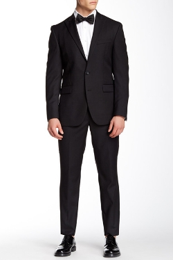 Kenneth Cole New York - Two Button Notch Lapel Wool Suit