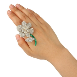 Ever Faith - Austrian Crystal Rose Ring
