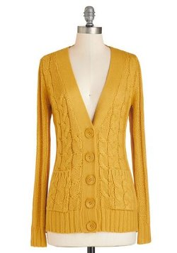 ModCloth - Your Fireside of the Story Cardigan in Honey