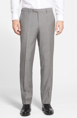 Boss - Flat Front Wool Trousers