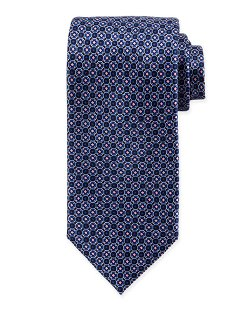 Brioni	  - Diamond Octagon-Print Silk Tie