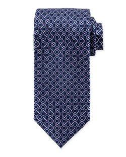 Brioni  - Diamond Octagon-Print Silk Tie