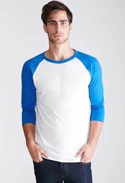 21 Men - Colorblocked Raglan Baseball Tee