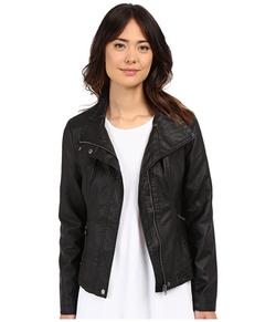 Brigitte Bailey - Doralee Faux Leather Jacket