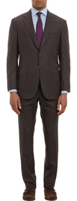 SARTORIO  - Hopsack Two-Button Suit