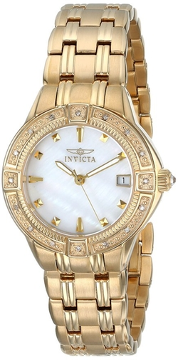 Invicta  - Diamond Accented 18k Gold-Plated Watch