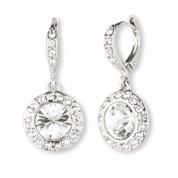 Givenchy  - Crystal Round Drop Earrings