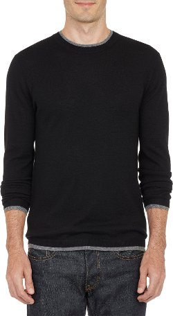Barneys New York  - Layered Pullover Sweater