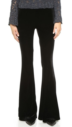 Free People - Low Rise Solid Velvet Flare Pants