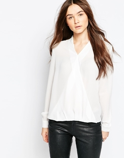 Brave Soul   - Long Sleeve Wrap Front Blouse