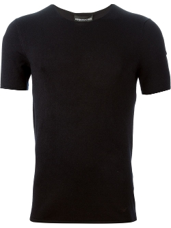 Emporio Armani  - Fitted Knit T-Shirt