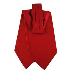 The Perfect Necktie - Red Solid Color Ascot Tie