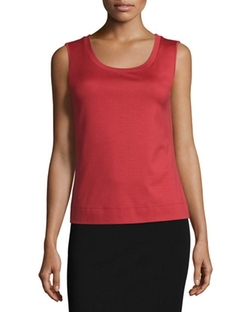 Lafayette 148 New York  - Scoop-Neck Slim-Fit Tank Top