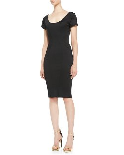ZAC Zac Posen   - Short-Sleeve Scoop-Neck Cocktail Sheath Dress