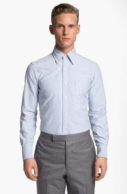 Thom Browne  - Oxford Shirt with Signature Placket