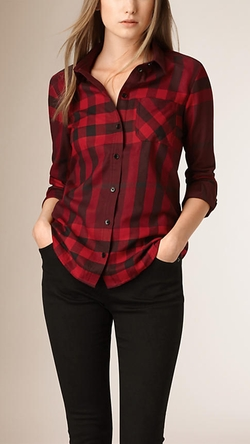 Burberry - Check Cotton Flannel Shirt
