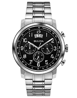 Bulova  - Mens Stainless Steel Dress Collection Chronograph Watch