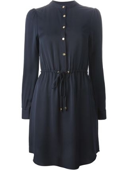 Michael Kors - Drawstring Waist Shirt Dress