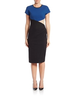 Anne Klein - Colorblocked Sheath Dress