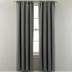 MarthaWindow - Hampton Basketweave Rod-Pocket/Back-Tab Curtain Panel