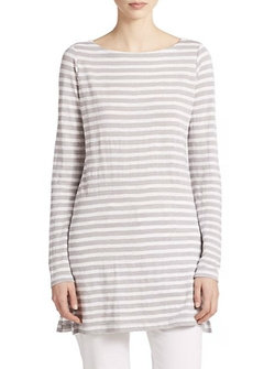 Eileen Fisher - Linen Striped Long Shirt