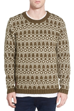 WeSC - Jacquard Wool Blend Crewneck Sweater
