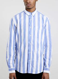 TOPMAN - SELECTED HOMME STRIPE SHIRT