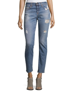 Rag & Bone/Jean - Dre Distressed Ankle Jeans
