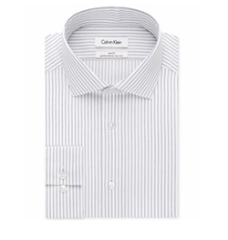 Calvin Klein - Steel Slim-Fit Non-Iron Stripe Shirt