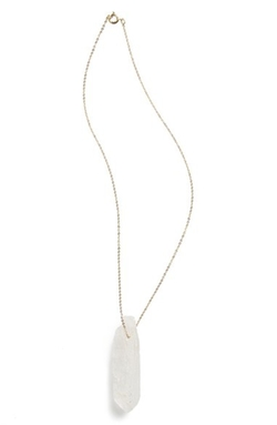 Five And Two  - Crystal Pendant Necklace