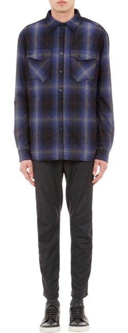 Lanvin - Plaid Flannel Padded Shirt-Jacket