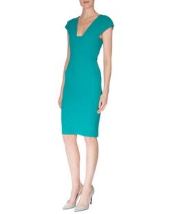 Roland Mouret - Cap-Sleeve Back Cutout Sheath Dress