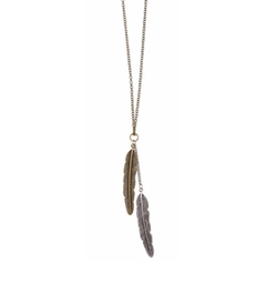 World End Imports - Feather Pendant Necklace