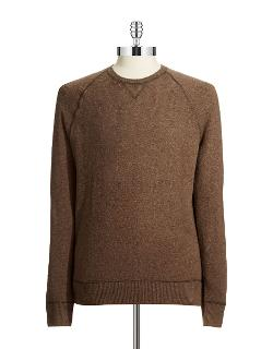 Black Brown 1826  - Wool Blend Crew Neck Sweater