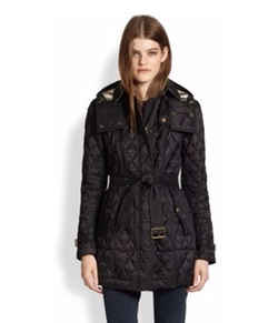 Burberry - Belted Quilted Jacket