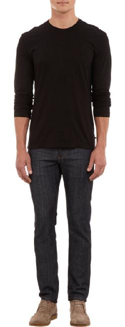 AMES PERSE  - Long -Sleeve Crewneck Tee