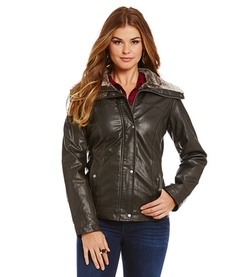 Bernardo - Faux-Leather Bomber Jacket