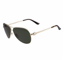 Salvatore Ferragamo - Metal Aviator Sunglasses