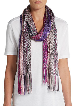 Missoni  - Chevron-Print Knit Scarf