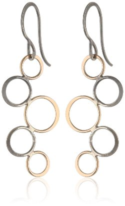 Melissa Joy Manning  - Mixed Sterling Silver Bubble Dangle Earrings