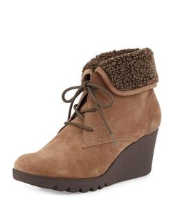 Donald J Pliner  - Mari Faux-Fur Trim Ankle Boots