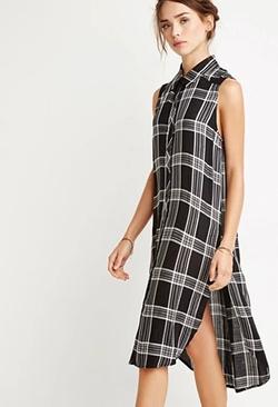 Forever21 - Tartan Plaid Shirt Dress