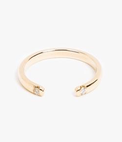 Jennie Kwon - Two Diamond Cuff Ring