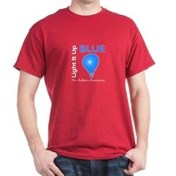 Cafe Press - Light It Up Blue T-Shirt