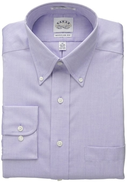 Eagle - Cotton Pinpoint Button Down Collar Non Iron Long Sleeve Dress Shirt