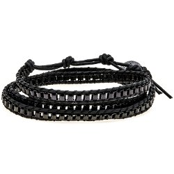 Max Reed  - Triple-Wrap Leather Bracelet