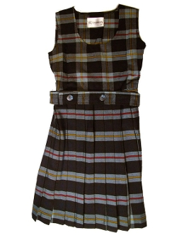 ET Uniforms - Scoop Neck Pleated Plaid Jumper Girls