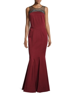 Zac Zac Posen  - Simone Illusion Strapless Gown