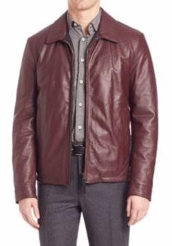 Canali  - Reversible Leather Jacket