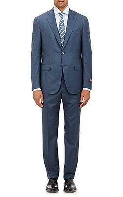 Isaia - Twill Gregory Two-Button Suit